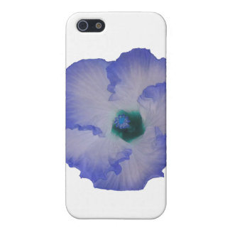 Blue tinted hibiscus flower iPhone 5 case