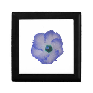 Blue tinted hibiscus flower jewelry box
