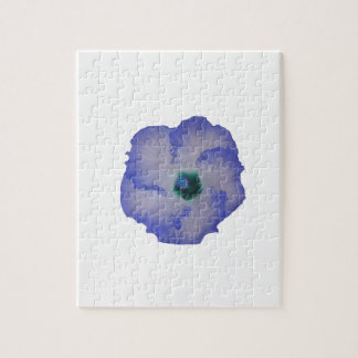Blue tinted hibiscus flower jigsaw puzzle