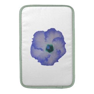 Blue tinted hibiscus flower MacBook sleeve