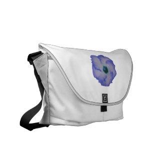 Blue tinted hibiscus flower messenger bag