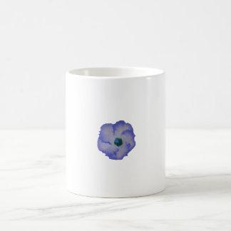 Blue tinted hibiscus flower classic white coffee mug