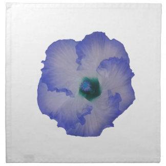 Blue tinted hibiscus flower napkin