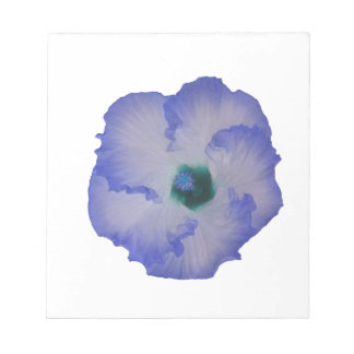 Blue tinted hibiscus flower notepads