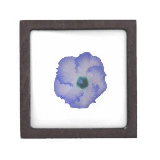 Blue tinted hibiscus flower premium keepsake box