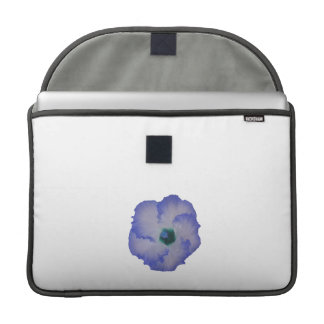 Blue tinted hibiscus flower sleeve for MacBooks