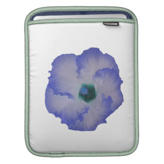 Blue tinted hibiscus flower sleeves for iPads