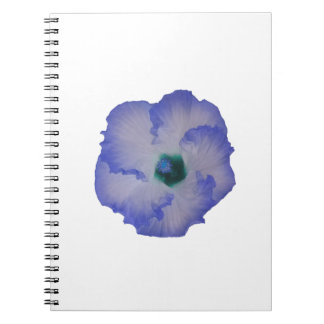 Blue tinted hibiscus flower spiral notebook