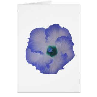Blue tinted hibiscus flower stationery note card