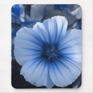 Blue Tinted Lavatera Mouse Pad