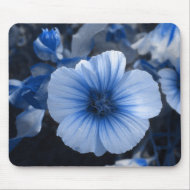 Blue Tinted Lavatera mousepad