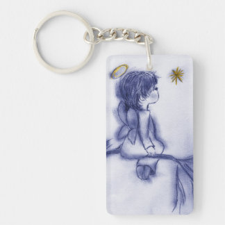 Blue Tinted Little Angel Keychain