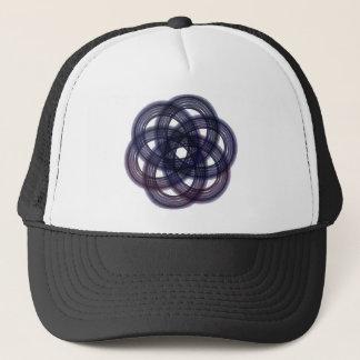 Blue Tinted Snowflake Trucker Hat