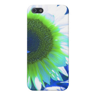 Blue Tinted Sunflower iPhone SE/5/5s Cover