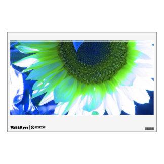 Blue Tinted Sunflower Wall Sticker
