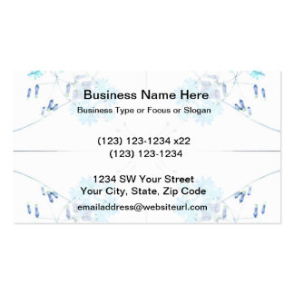 Blue tinted wildflower scan 4 up business card
