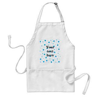 Blue tiny and big polka dots adult apron