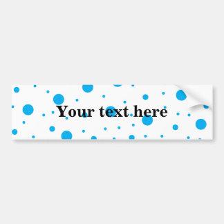Blue tiny and big polka dots bumper sticker