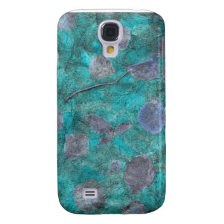 Blue tissue paper collage with rose petals samsung galaxy s4 cover