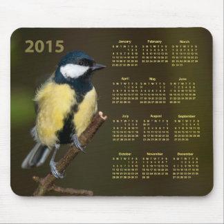 Blue Tit Garden Bird 2015 Calendar Mousepad