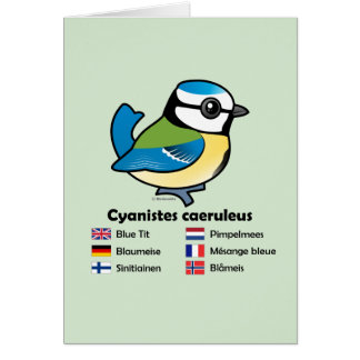 Blue Tit International Card