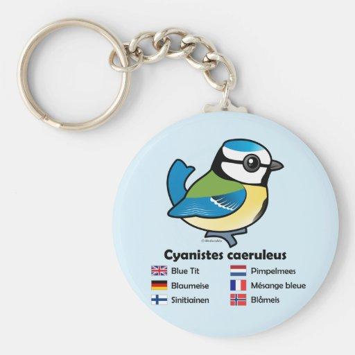 Blue Tit International Keychain