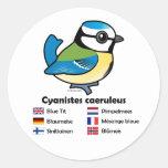 Blue Tit International Stickers