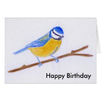 Blue Tit Watercolour greeting card wife husband