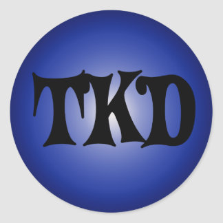 Blue TKD Round Sticker