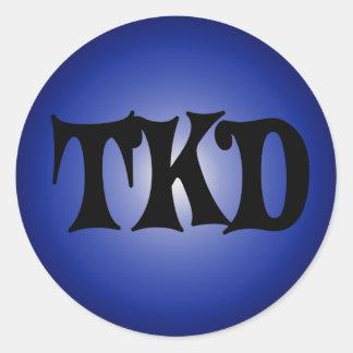 Blue TKD Round Sticker