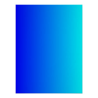 Blue to Aqua Gradient Poster