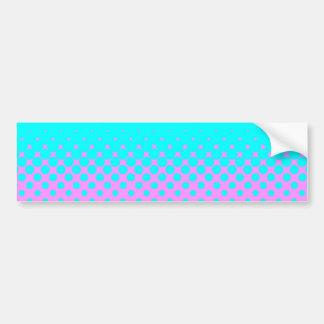 Blue to pink bumper sticker
