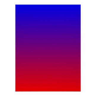 Blue to Red Gradient Poster
