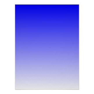 Blue to White Gradient Poster