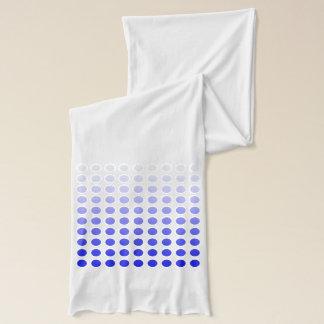Blue to White Polka Dot Fade Scarf Version 2