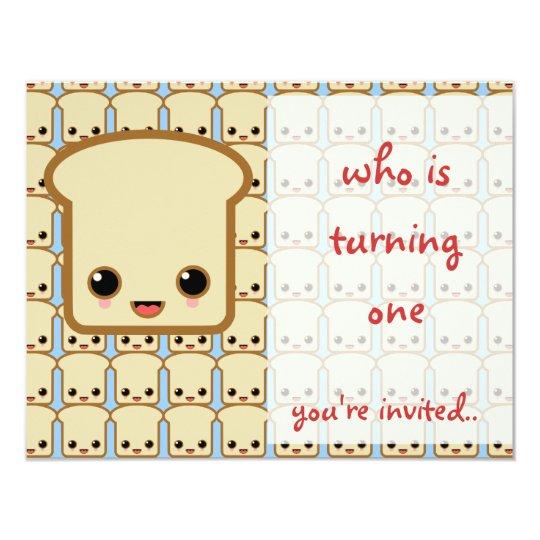 blue toast invitation birthday party