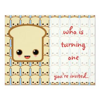 """blue toast invitation birthday party 4.25"""" x 5.5"""" invitation card"""