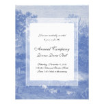 Blue Toil de Jouy French Country Shabby Elegance Personalized Invitation