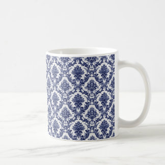 Blue Toile Coffee Mug