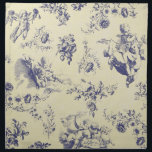 "Blue Toile French Country Cherub Pattern Napkin<br><div class=""desc"">This 18th Century classic pattern is usually characterized by its use of pastoral scenes,  and is often associated with a ""French Country"" decor aesthetic. However,  in recent years,  it's become popular among hipsters,  and used in sleeker,  more modern homes.</div>"
