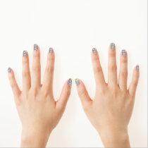 Blue Toile Minx Nail Art