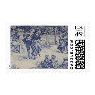 BLUE TOILE POSTAGE STAMPS