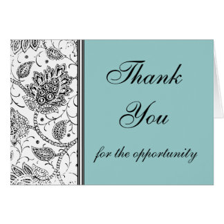 Blue Toile Thank You Cards, Personalized Stationery Note Card