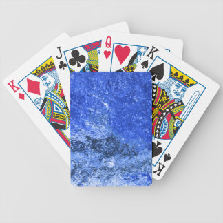 Blue toilets wall bicycle playing cards