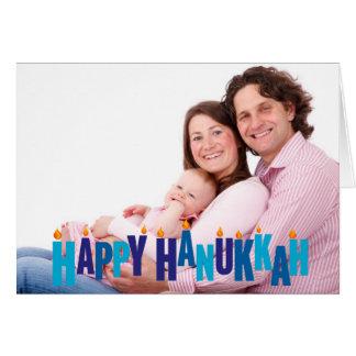 Blue Tonal Hanukkah Candle Lights Greeting Cards