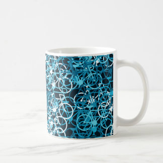 Blue Tone Bicycle Drinks Mug