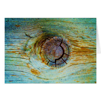 Blue toned tree wood card