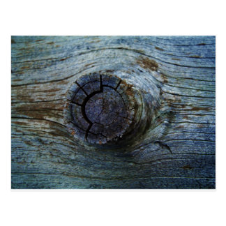 Blue toned tree wood postcard