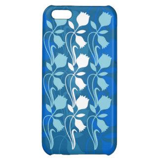 """""""Blue Tones"""" Floral Print iPhone Case"""