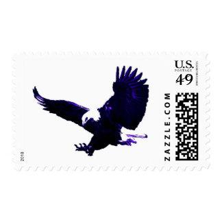 Blue Tones Landing Bald Eagle Postage